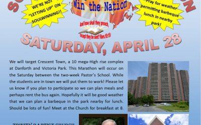Trinity Baptist Pastor's School Soulwinning Marathon!